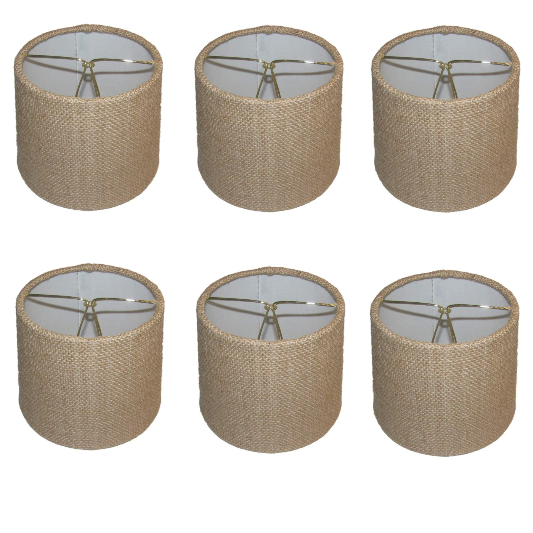 Cheap burlap chandelier shades find burlap chandelier shades deals get quotations upgradelights set of six 6 inch barrel drum chandelier shades in natural burlap fabric arubaitofo Images