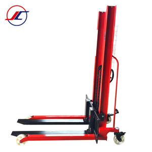 1000kg Manual hydraulic hand pallet stacker forklift with wheels