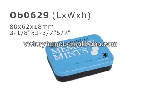 tin box for mints with hinge