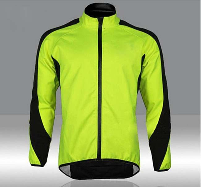 Men's Cycling Fleece Jacket Sportswear,Men Bike Clothes Reflective Jersey Long Sleeve Winter Jacket Bicycle Clothing