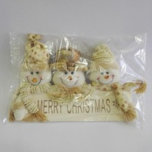 3 snowmen head merry christmas gift wholesale