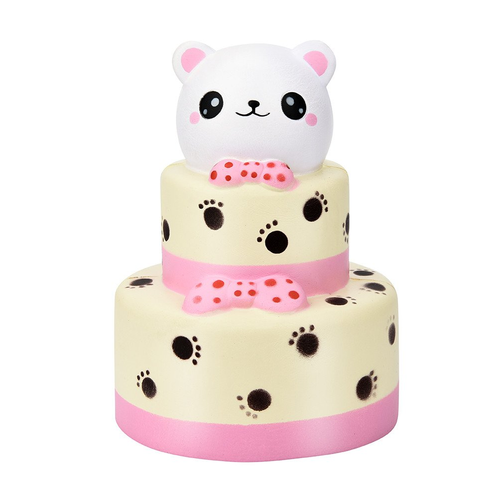Tanhangguan Squishies Prime Cheap Squishy Slow Rising Jumbo Toys Cute Colossal Bear Cake Scented Toys Squishies for Kids and Adults Stress Relief Toys Squeeze Toys for Time Killing (White)