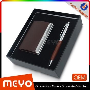 Souvenir Corporate Business Set Card Holder Ball Pen Gifts For Men