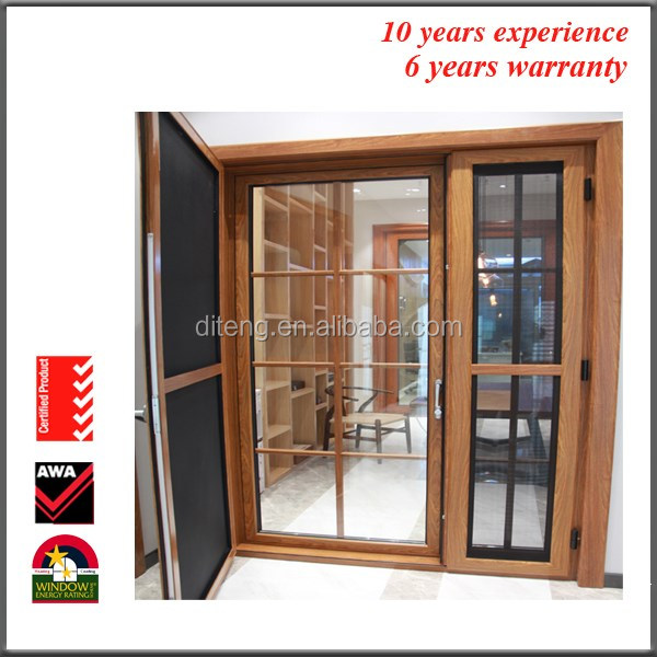 2017 Kerala Soundproof Inward Opening Thermal Break Double French Glazed Casement Luxury Front Door Design