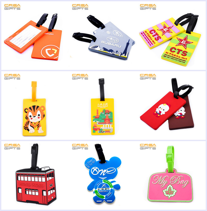 2019 Custom Soft PVC Travel Luggage Tag With Personalized Logo