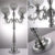 Top quality wedding candlestick gold crystal candle holder 5 arms candelabra centerpieces in stock