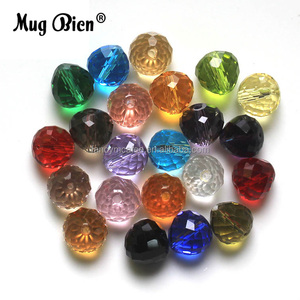 Loose faceted Glass Cheap Prices Crystal Beads For DIY Necklace Making