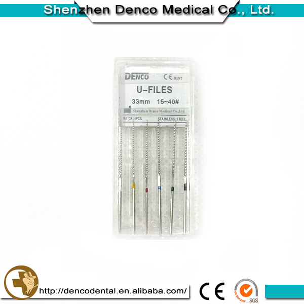 Root-Canal Filling Material dental Stainless Steel Woodpecker U Files with ISO CE certificate
