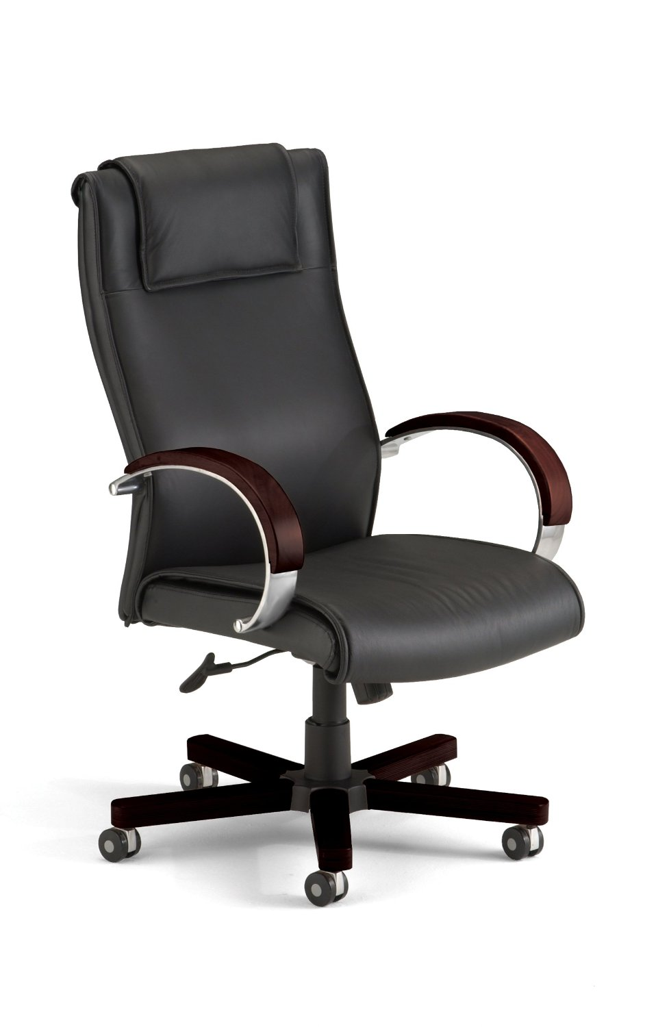 OFM Apex Hi-Back Executive Leather Chair - High Back Office Chair, Mahogany (560-L)