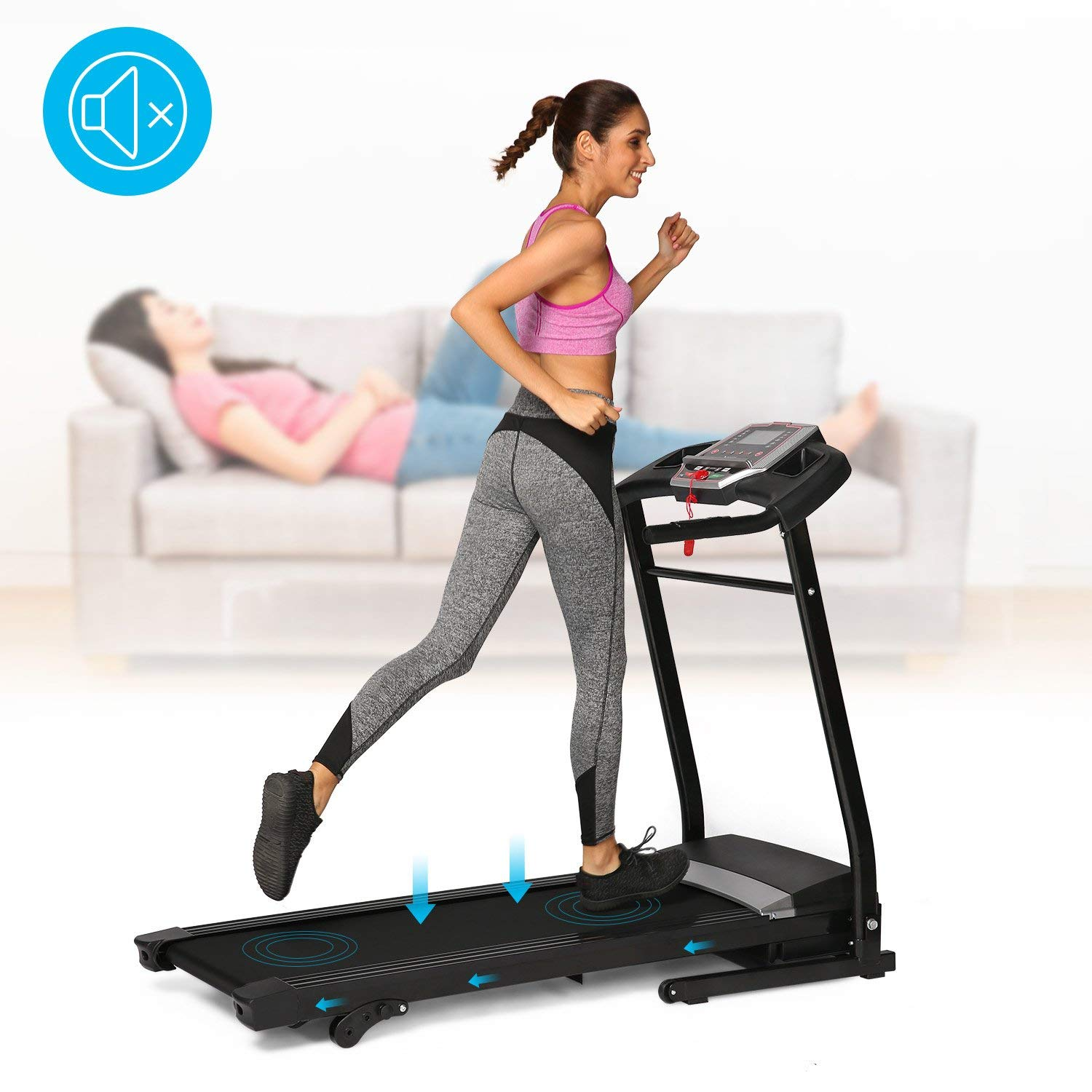 Confidence fitness magnetic manual treadmill running machine.