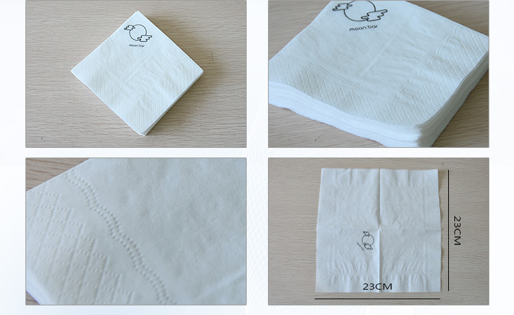 Customized printed paper napkin/OEM service/virgin napkin paper tissue with one color logo printed