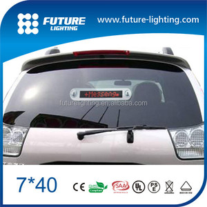 7*40 programable message SMD led car rear window digital display