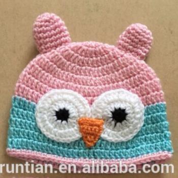 Baby Owl Animal Beanie Kids Acrylic Crochet Hats Buy Crochet Hat