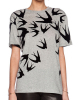 EY1015B 2016 New Style Girls T-Shirts Printed Flower and Birds