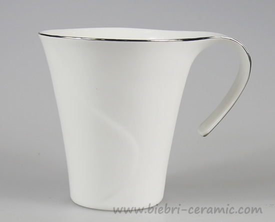 300ml Super White Logo Brand Printable Porcelain Coffee And Tea Mugs And Cups