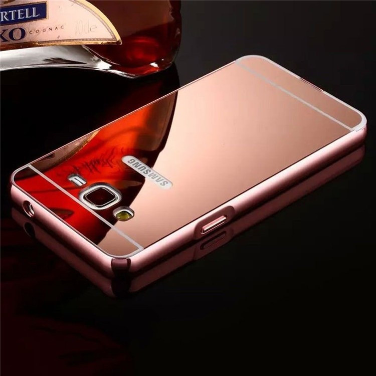 JESOY For <strong>Samsung</strong> Galaxy S7 <strong>S6</strong> A3 A5 <strong>Edge</strong> Aluminium <strong>Case</strong> Mirror Back Metal Cover Metallic