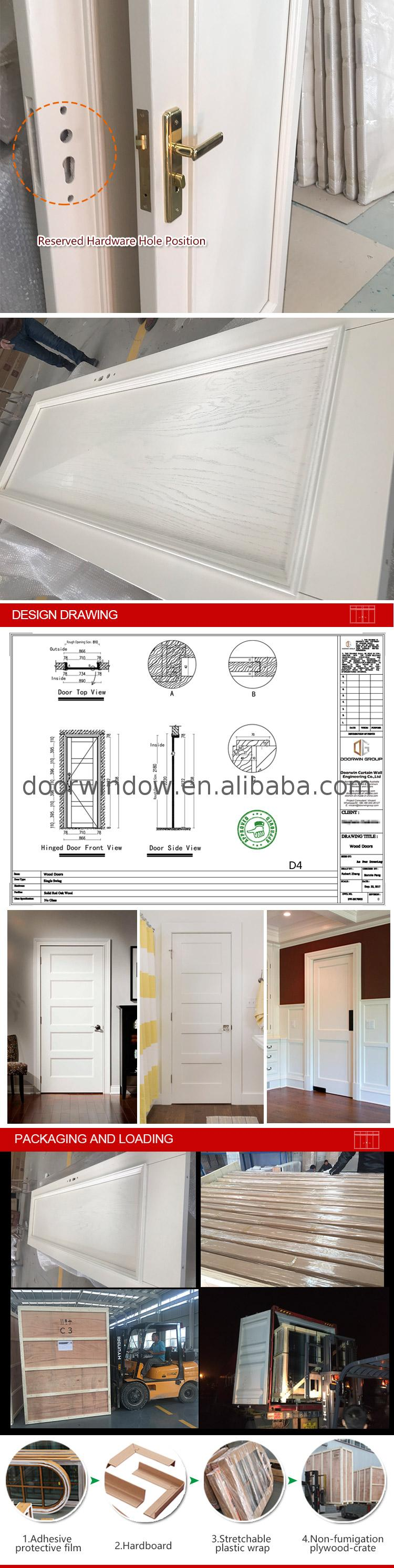 China Factory Promotion white room divider doors oak veneer internal