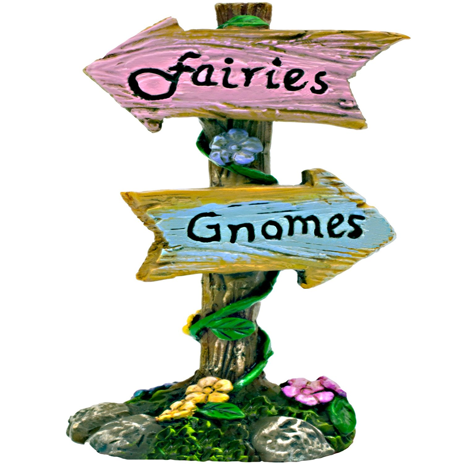 Twig & Flower The Miniature Garden Fairy & Gnome Sign