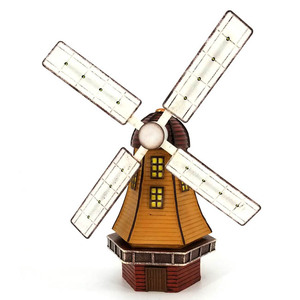 garden lighthouse 3D parts solar light metal wind spinner