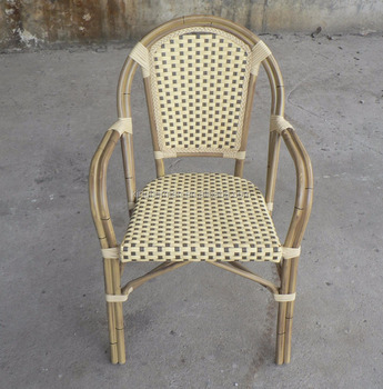 French Rattan Bistro Chairs For Coffee Shop Imitation Bamboo Chair