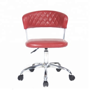 Office Chairs Red Wholesale, Red Office Chair without Arms, Red Office Desk Chair Anji Manufacturer