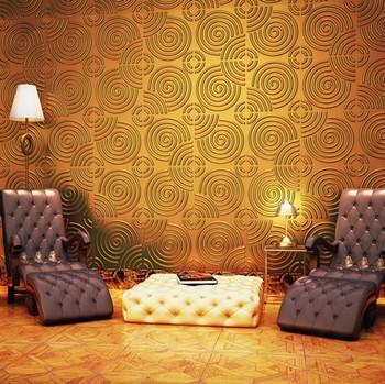 Bedroom Decoration Metallic Wallpaper Golden Wallpaper