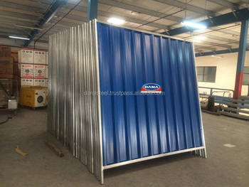Sheet Hoarding Corrugated Site Perimeter Fence Panels Uae