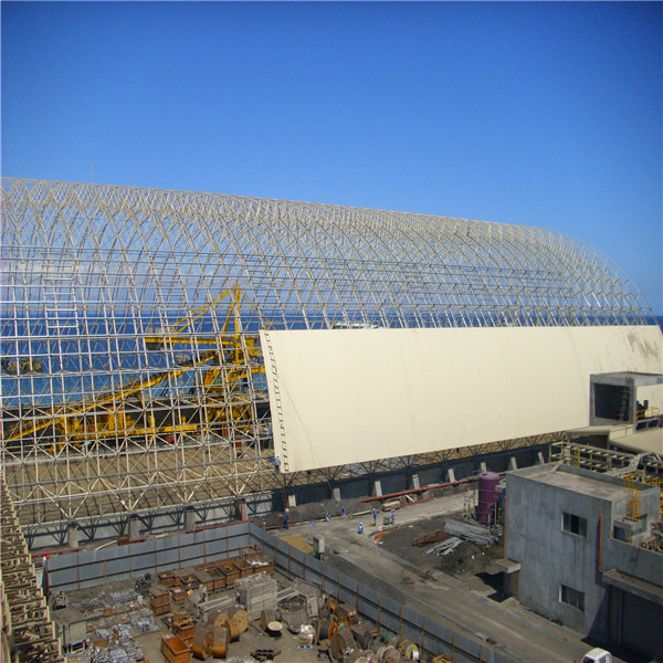 light steel structure space frame prefabricated sheds
