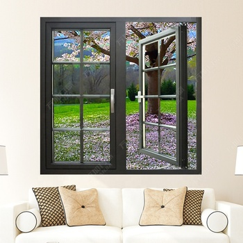 aluminum double tempered casement glass windows prices