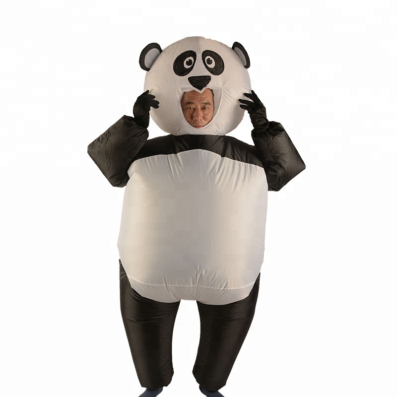 Gonflable Halloween Costume Adulte Report Sur Animal Fantaisie Robe Panda Costume De Mascotte