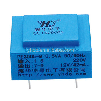 Wholesale 0.5VA 230V 220V power PCB mounting mini power ...