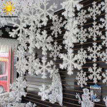 30Pcs White Snowflake Christmas Ornaments Holiday Festival Party Home Decor Decoracion Navidad New Year Gift