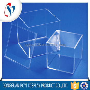 OEM ODM Factory Price Durable Cube Clear Acrylic Storage Boxes With Lids