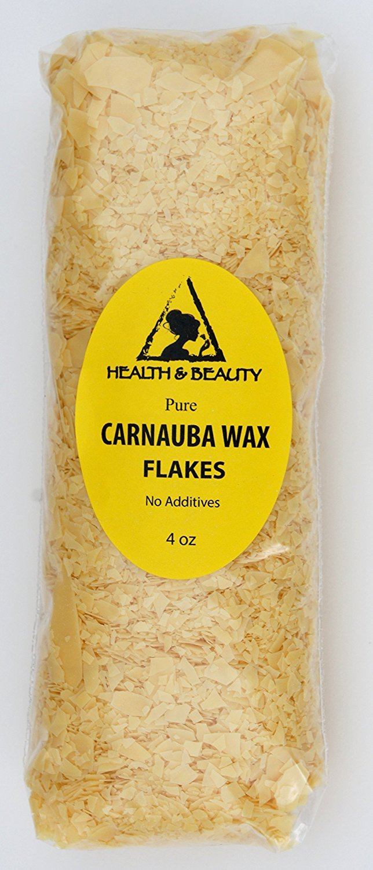 Carnauba Wax Organic Flakes Brazil Pastilles Beards Premium Prime Grade A 100% Pure 4 oz
