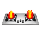 Energy saving infrared gas cooker with stainless steel panel for home