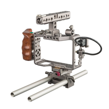 Guangzhou supplier wooden handle lightweight Tilta es-t17-a dslr camera cage rig for camera
