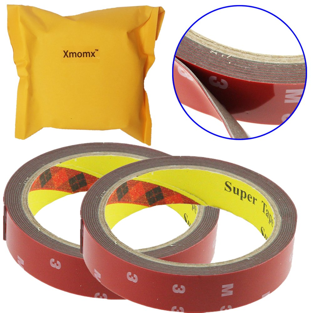 Xmomx 2 PCs Bigger 3Mx20MM Automotive Plus Truck Car Acrylic Foam Double Sided Attachment Wider Tape Adhesive Auto Van