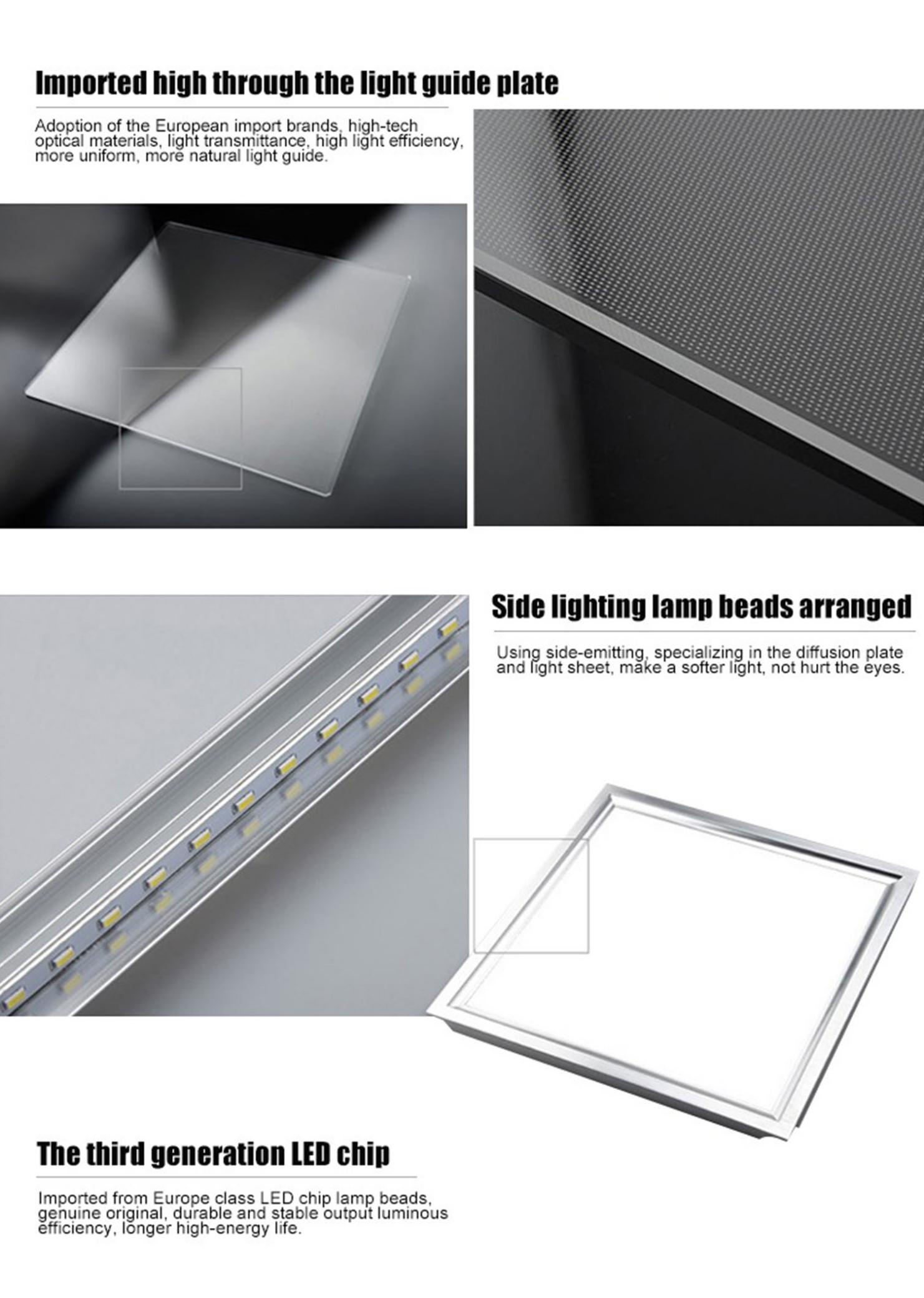 18w 36w 45w 48w guangdong  factory square led panel 300x300 300x600 600x600 300x1200 emergency ceiling lamp for office and hotel