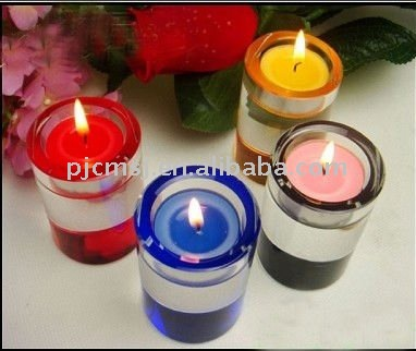 Round Colorful Crystal Candlestick For Party and wedding Decorations 2016