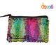 Encai Magic Reversible Mermaid Sequins Zipper Makeup Bag Glittering Cosmetic Carry Bag Orgniazer
