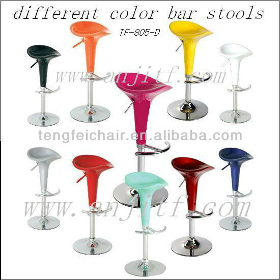 height adjustable function with 360 degree swivel ABS bar stool