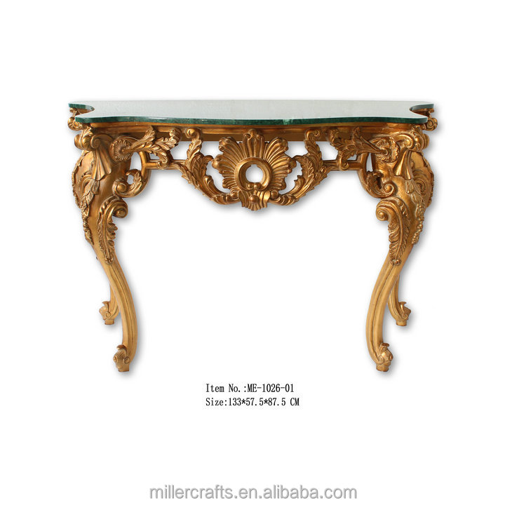 Elegant console tables top beige color marble console