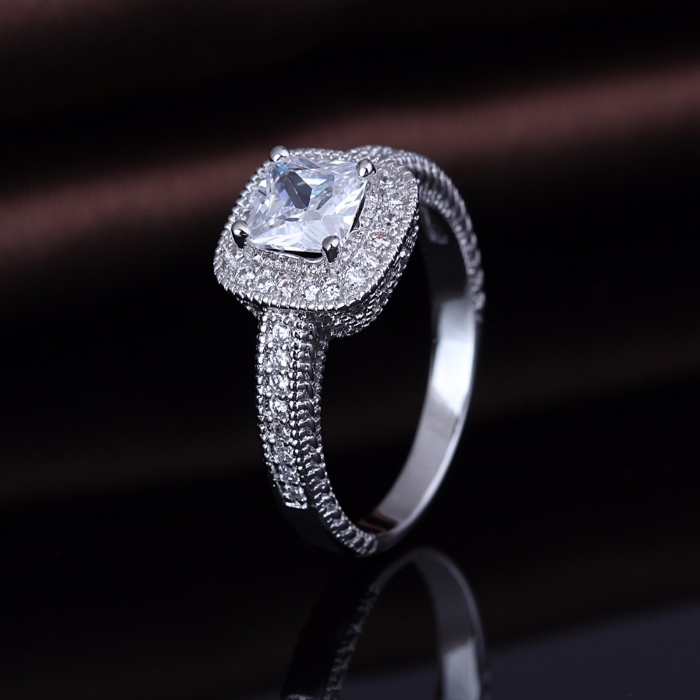 2019 New Arrival Value 925 Silver Aaa Zircon Diamond Engagement Ring Jewelry фото