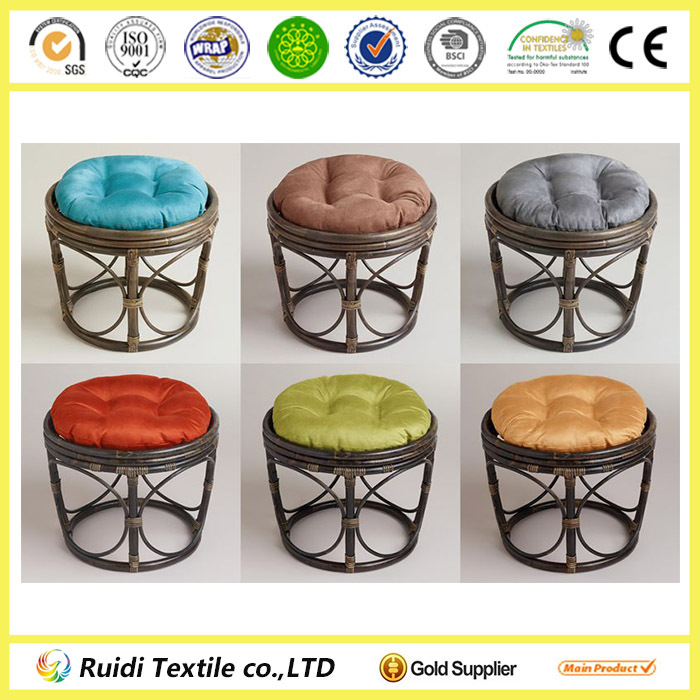 Solid Color Micro Suede Papasan Chair Cushion For Rattan Chair Buy