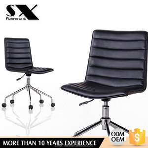 EMAS PU leather office chair /modern top sale cheap No arm office furniture stackable conference poly chair