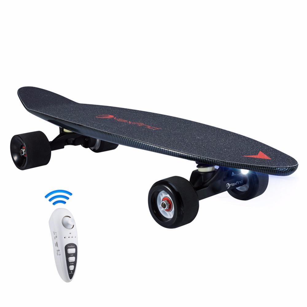 Maxfind Electric Skateboard Max C the world Most portable lightweight mini board 8.1lbs