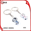 Fashion keyring gender symbol key chains key ring OEM LOGO promotional unique keychain