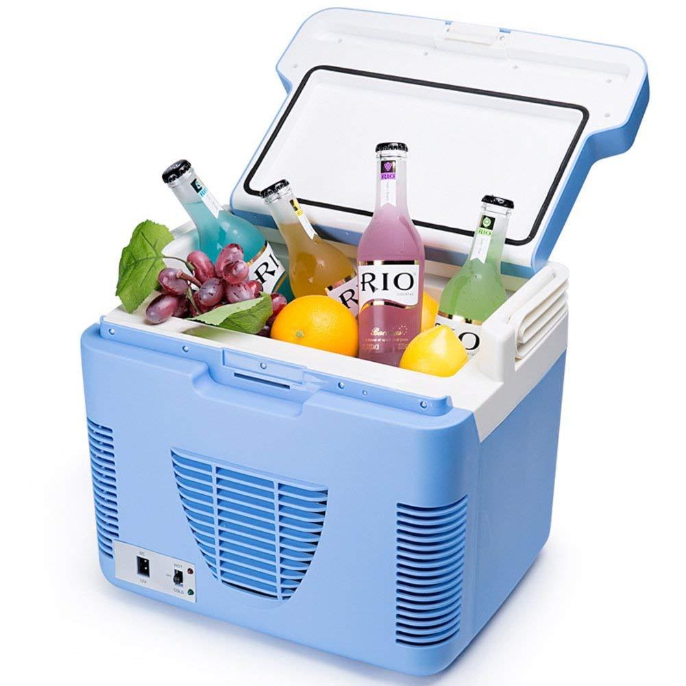 SL&BX Mini kühlteil,Small fridge 10l car refrigerator dual refrigerator car mini portable for bedroom,Office or dorm-Blue 36x27x28cm(14x11x11inch)