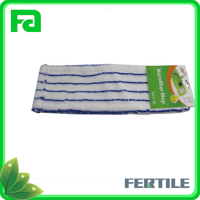 floor cleaning 45X15CM 100% polyester flat mop head cloth