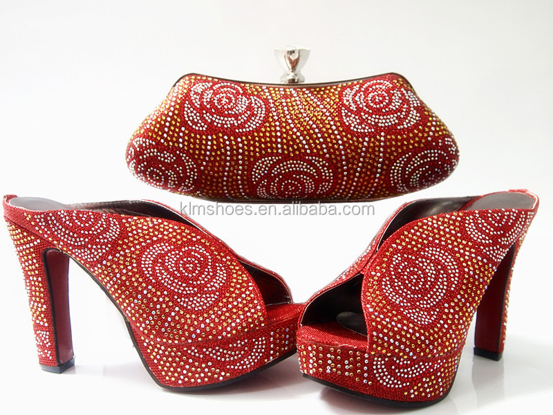 African For Wedding And Bag Design Quality With Lady G10 Dress Shoes Rhinestones Matching New High Party Set For Italy xTwaCtqCX